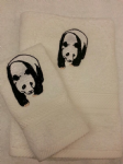 PANDA PERSONALISED TOWEL SET - Animals